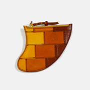 PATCWORKED Fin Leather Coin Purse