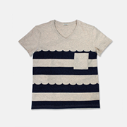 Wave Striped Tee